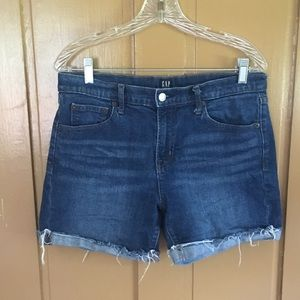 Women's Gap Jean Shorts.  Distressed cuffs.